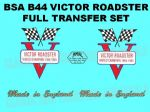 BSA B44 Victor Roadster Transfer Decal Set
